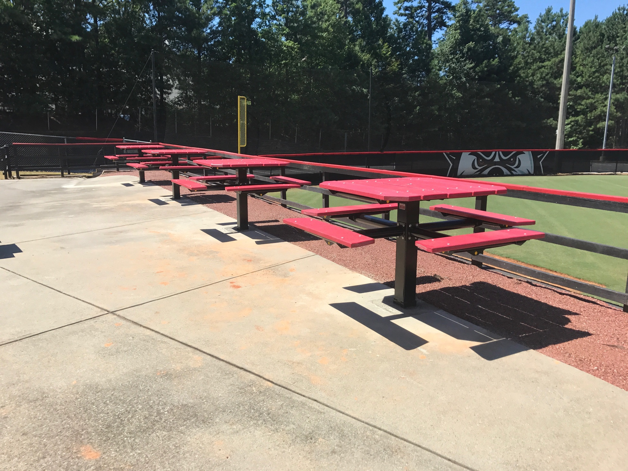 New high top tables on patio